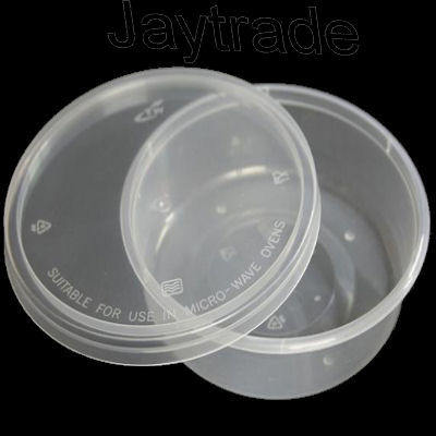 Satco Microwave Safe Round Containers Lids 4oz 500